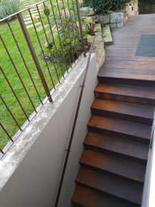Cortenstahl Treppe